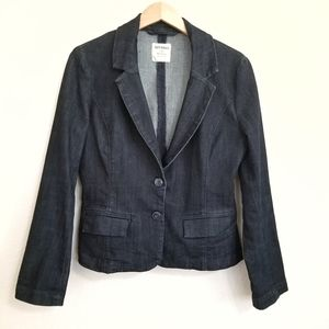 Old Navy Dark Denim Blazer Jacket Medium